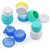 Travel Containers Sets Silicone & PP Cream Jars for Toiletries Empty Lotion Containers Leak-proof & BPA Free Bottles…