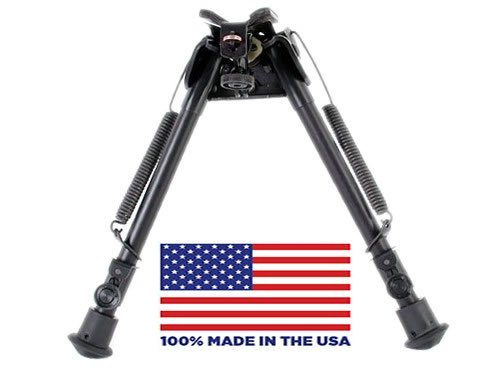 """HBLS Harris Bipod extends from 9"""" to 13"""" swivels to compensate for uneven terrain"""