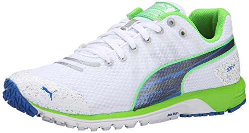 Zapatillas De Running Para Hombre Puma Faas 300 V4 Race White / Fluorescent Green / Strong Blue
