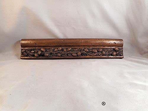 - Antiqued Bronze Pine Cone Chair Rail