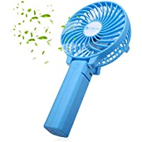 isYoung Adjustable Mini Fan Cool Fan 3 Speed for Traveling, Fishing, Camping, Hiking, Backpacking, BBQ, Baby stroller, Picnic, Biking, Boating(Blue)