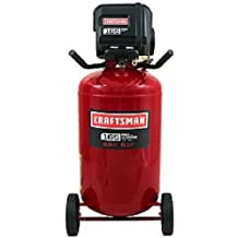 Craftsman 33 Gallon Quiet Vertical Air Compressor 165 PSI Nail Gun Construction Framing Pneumatic Tools Roofing Portable 2 Quick Connects Get Your Job Done Fast and Easy Does Not Require Oil Low-voltage Start up Runs Cold or Warm Conditions Awesome