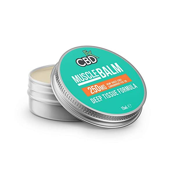 CBDfx Muscle CBD Balm 15ml – 250mg CBD Oil, Peppermint Oil and Wintergreen Oil