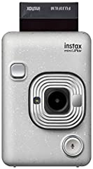 Live life and play; capture all the fun of an Instax instant camera and smartphone printer all in one with the new Fujifilm Instax Mini liplay. Combining instant print with digital technology and attractive never-before-seen features in the I...