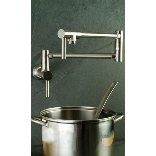 Newport Brass 9485 East Linear Double Handle Wall Mounted Pot Filler Faucet, Stainless Steel (PVD)