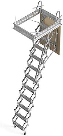 Mister Step escalier escamotable ADj trou dhomme Version avec trappe au plafond H 251/÷275 90 x 70 cm.