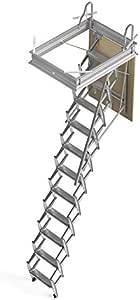 Mister Step Escalera escamoteable para buhardillas ADJ H=325÷350 cm. (120 x 70 cm.): Amazon.es: Bricolaje y herramientas