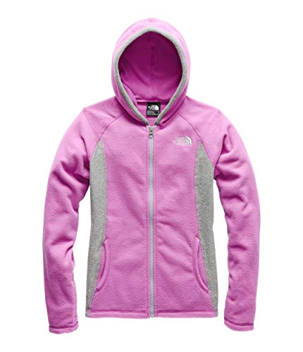 (The North Face Girl's Glacier Full Zip Hoodie, Wisteria Purple, Size M)
