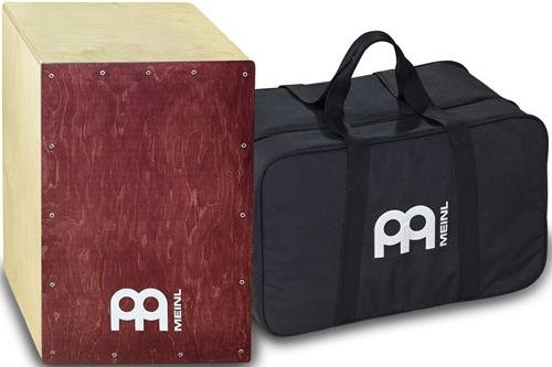 Meinl Cajon Box Drum with Internal Snares and FREE Bag, Baltic Birch Wood Full Size, Made In Europe 2-YEAR WARRANTY (BC1NTWR) (Sounds Snare Free)