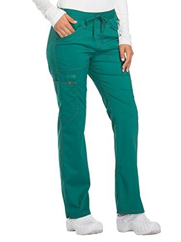 Dickies Essence Women's Straight Leg Drawstring Scrub Pant Large Hunter - Women Hun