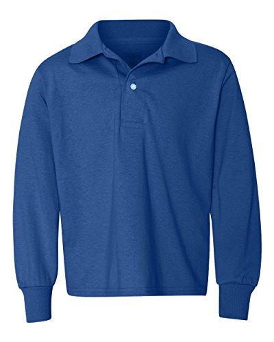 Jerzees 5.6 oz., 50/50 Long-Sleeve Jersey Polo with SpotShield XL (Long Sleeve Golf Shirt)