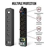SUPERDANNY USB Surge Protector Power Strip