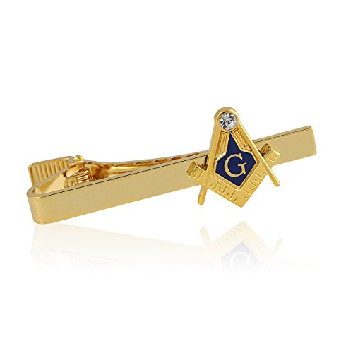 Compass and Square Gold Toned Masonic/Freemasonry Tie Clip