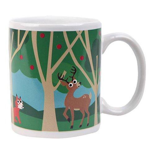 Kikkerland Morphing Mug, Woodlands O Christmas Tree In German