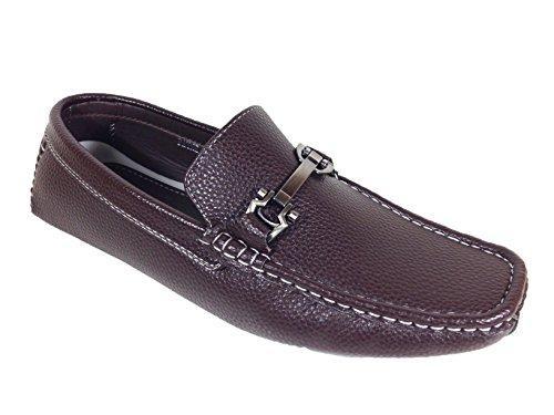 Men Casual Light Weight Horse Bit Buckle Driving Moccasins Shoes (Vipfootwear-payne) (13, vip-payne_brown)