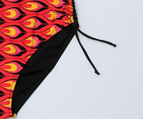 Bikini KUWOMINI.Woman Estilo Patrón De Fantasía Bikini Dama De La Moda De Playa YellowPurple