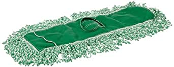 Rubbermaid Commercial J853-00 Microfiber Blend Looped-End Dust Mop, 24-inch, Green
