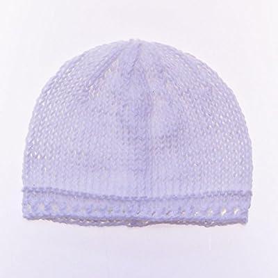 Gorro de bebé niña 100% algodón hecho a mano: – 0 – 3 meses/color blanco: Amazon.es: Bebé
