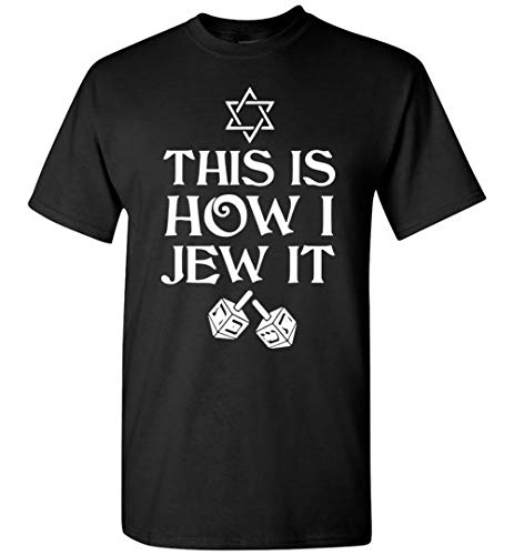 This Is How I Roll Dreidel Star Hanukkah Jewish T-Shirt Hoodie Long ()