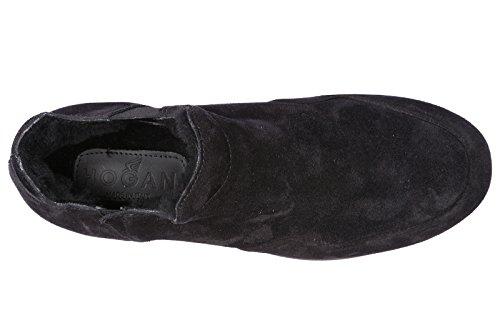 Hogan Damer Ruskind Slip På Tøflen Sneakers H222 Sort wOkMZj8M