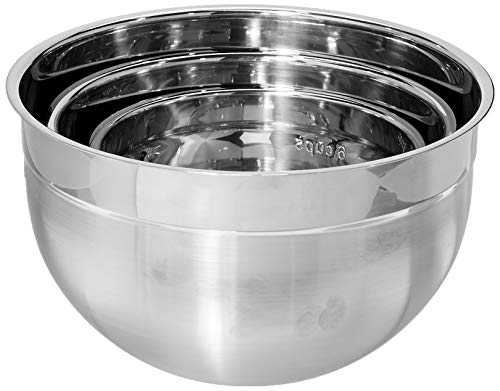 Mixing Cuisipro Bowl - Cuisipro Stainless Steel Mixing Bowl 3 Piece Set