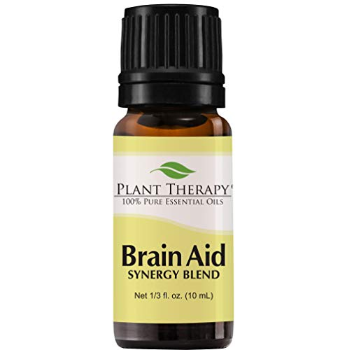 Plant Therapy Essential Oils Brain Aid Synergy - Focus & Attention Blend 100% Pure, Undiluted, Natural Aromatherapy, Therapeutic Grade 10 mL (⅓ oz)