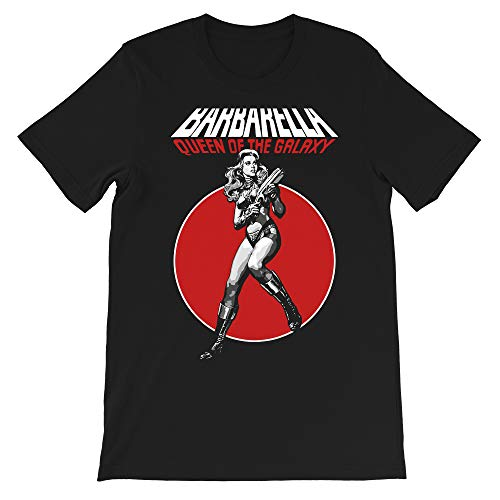 Barbarella Queen of The Galaxy Jane Fonda Film Movie Science Fiction Cinema Cult Gift Men Women Unisex T-Shirt (Black-S)