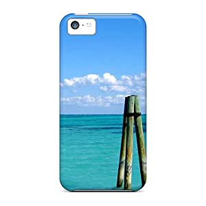 New Arrival Cover Case With Nice Design For Iphone 5c- Caribbean Poles