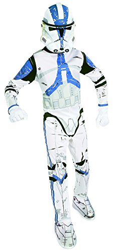 Star Wars Clone Trooper Boys Kids Child Jumpsuit Costume (M)