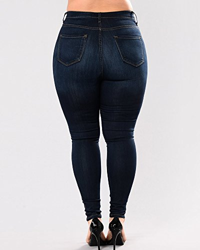 Femme Skinny Haute Taille Pantalon Taille Leggings Stretch Grande Up Jean Bleu Push 6q5dBwqnx
