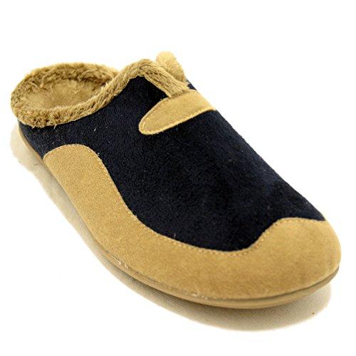 DYF Bottes courtes chaussures talon bas Lanière en peluche tête ronde à franges de couleur solide,41,Couleur Café