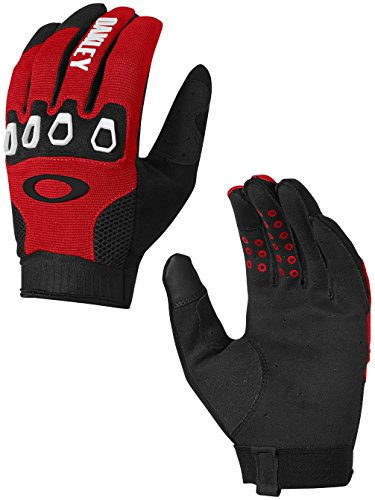 Oakley Mens Automatic 2.0 Gloves Medium Red - Over Oakley Tops The