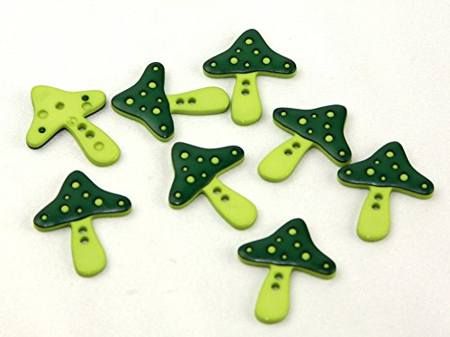 Dill Two Tone Mushroom Shape Buttons Green - per - Mushrooms Dill