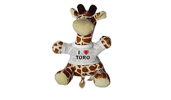 Shopzeus Jirafa de Peluche (Juguete) con Amo Toro en la Camiseta (Nombre de Pila/Apellido/Apodo): Amazon.es: Juguetes y juegos