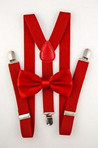 Scott Allah design - Mens Accessories Red Youth Mens Bow Tie Suspender Set Novelty Wedding Classic (Tuxedo Playboy Bunny Costume)