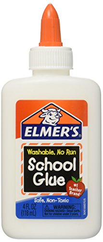 Elmer's Washable School Glue 4 Fl Oz / 118 Ml (Pack of 6)