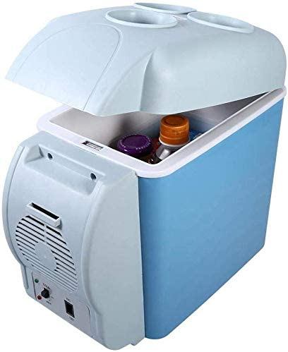 Mini Fridge Homes Blue Car Refrigerator Offices Mini Fridge Electric Cooler and Warmer 12V 4L Portable Compact Refrigerator Multi-Functional for Cars and Dorms