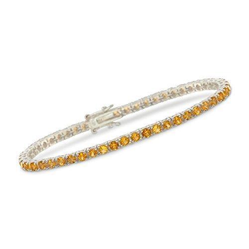 - Ross-Simons 5.00 ct. t.w. Citrine Tennis Bracelet in Sterling Silver