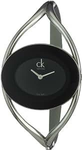 Calvin Klein Delight K1A23102 - Reloj de mujer de cuarzo, correa de acero inoxidable color plata