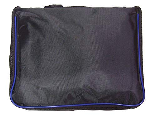 - Extra Large Collector Lapel Pin Bag - 5 Page Black w/Blue Piping