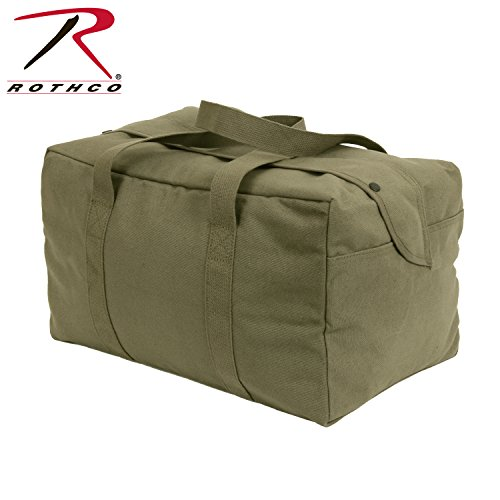 - Rothco Canvas Small Parachute Cargo Bag, Olive Drab