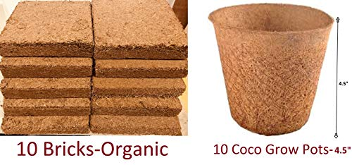 Coco Bliss Premium Coco Coir Brick 250g, OMRI Listed for