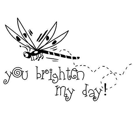 You Brighter My Day Vinyl Art Tatuajes de Pared Extraíbles Niños ...