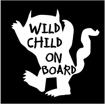 amazon just for fun white 5 25 x 5 2 wild child on board Girls Just Wanna Have Fun Logo just for fun white 5 25 x 5 2 wild child on board monster vinyl die cut