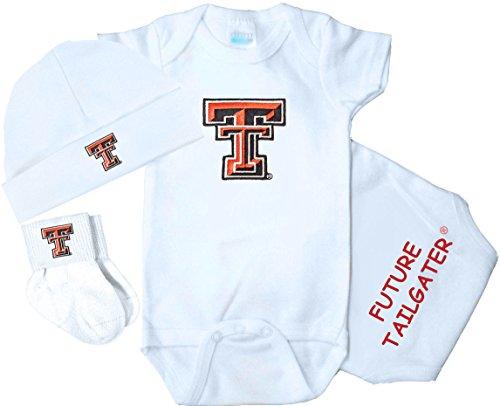 Future Tailgater Texas Tech Red Raiders 3 Piece Baby Clothing Set (Newborn)