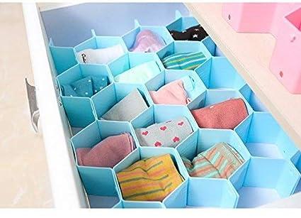 Cajón organizadores hogar plástico partición abeja estilo ropa interior calcetines sujetador corbatas cinturones bufandas divisor de