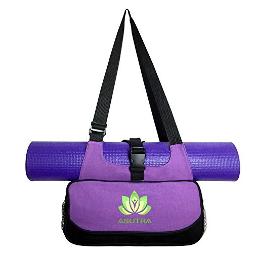 "COMPACT YOGA MAT BAG / Stylish, Efficient & Lightweight / 16""x8"