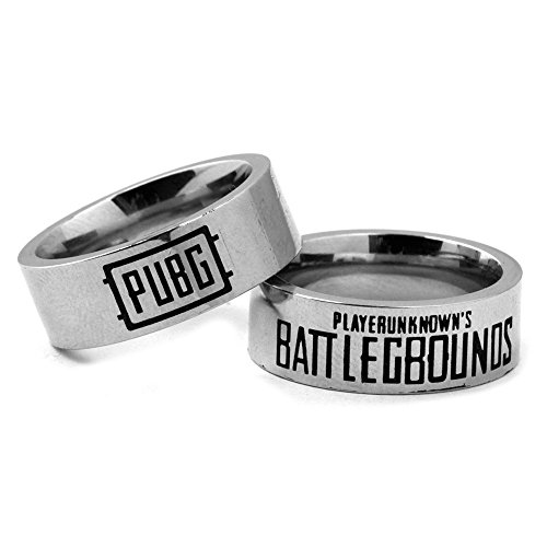 Handmade jewellery pubg logo stainless steel rings for Do pawn shops buy stainless steel jewelry