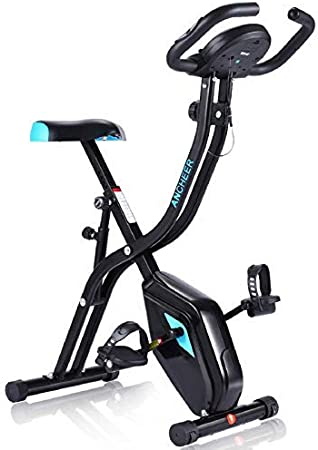 ANCHEER Bicicleta Estatica Bicicleta de Ejercicio Plegable de Interior Perfecto Máquina de Ejercicio en Casa para Cardio