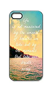 BlackKey Life is not measured by the number of breaths we take Snap-on Hard Back Case Cover Shell for iPhone 5 5G 5s -1004